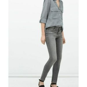 Zara TRF Womens 2 Gray Skinny Jeans
